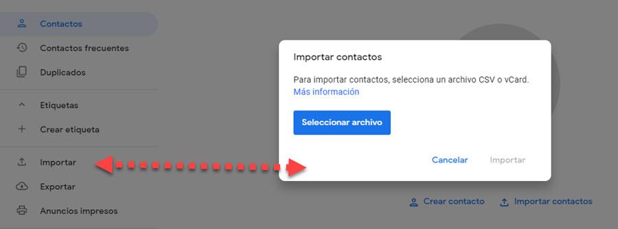 Cómo pasar contactos de una cuenta de Gmail a otra 4