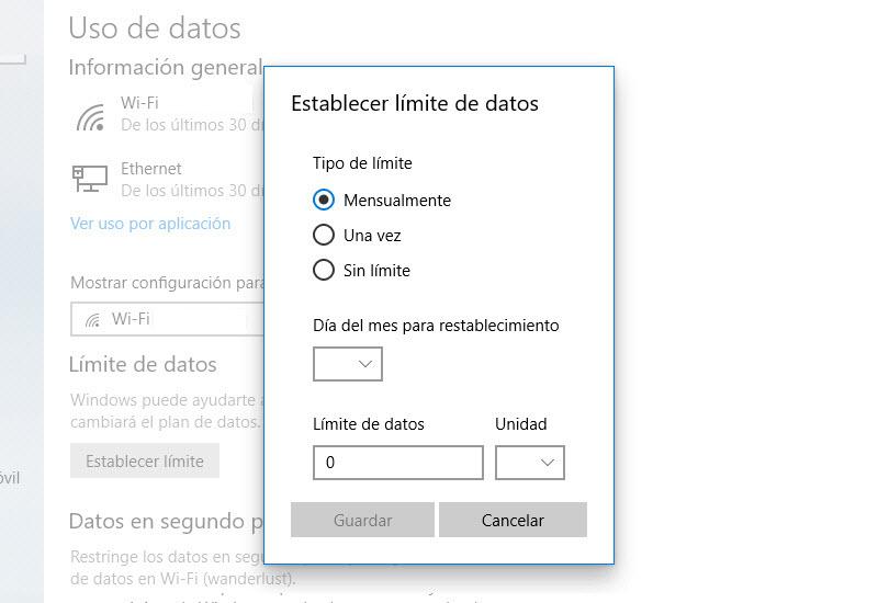 Cómo controlar el consumo de datos en el PC 3