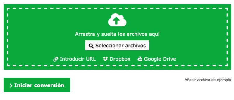 Herramienta para comprimir archivos Online-convert