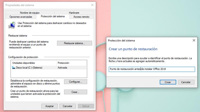 Cómo crear un punto de restauración en Windows 10 4