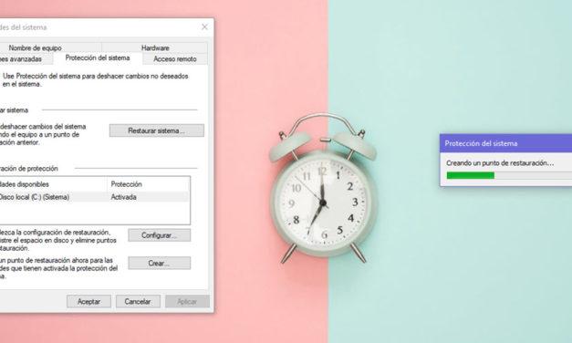 Cómo crear un punto de restauración en Windows 10