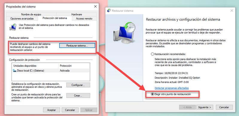Cómo crear un punto de restauración en Windows 10 5