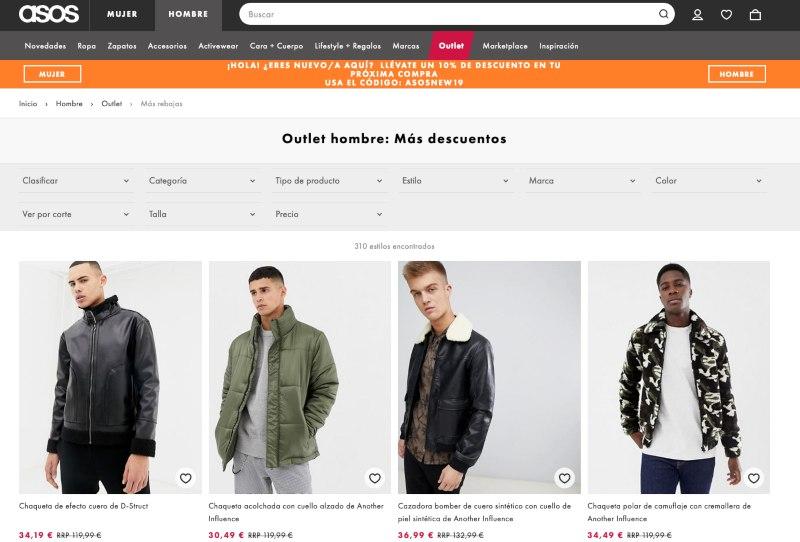 Tienda online Asos