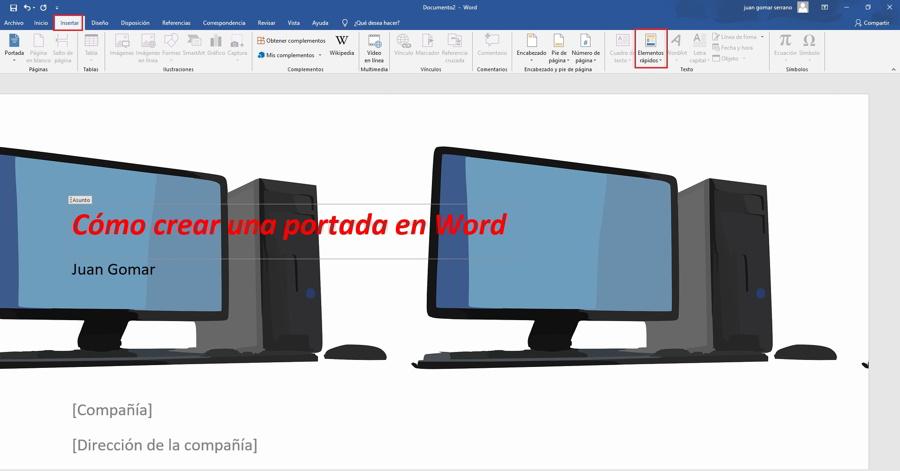 Como hacer una portada personalizada en Word