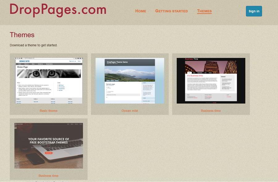 Crea una pagina web con DropPages