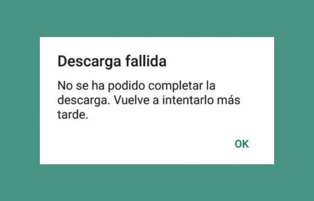 Por qué WhatsApp no me deja enviar ni descargar fotos ni audios