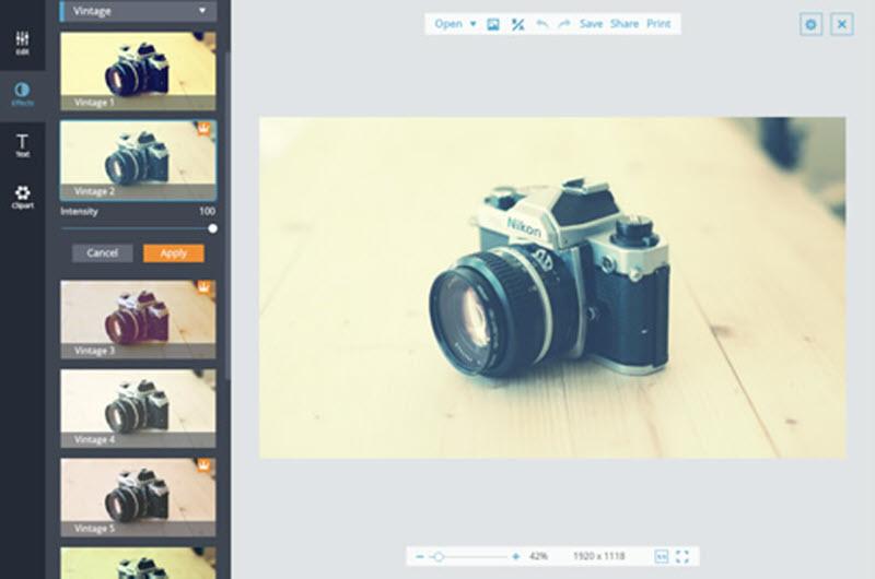 5 herramientas web para aplicar filtros a las fotografías 3