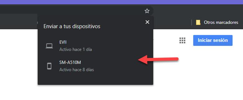 Cómo enviar páginas web a otros dispositivos con Chrome 3