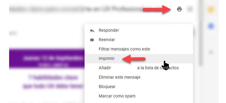 Cómo imprimir correos electrónicos desde Gmail 2