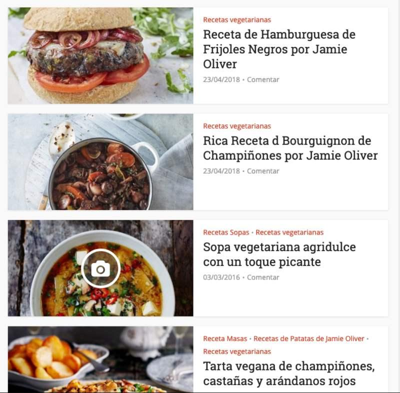 Web de Jamie Oliver