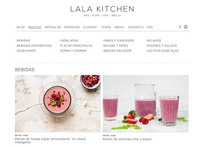Web de Lala Kitchen
