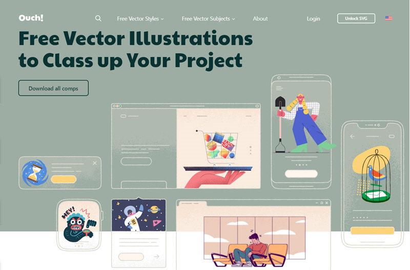 5 recursos web para descargar ilustraciones gratuitas 2