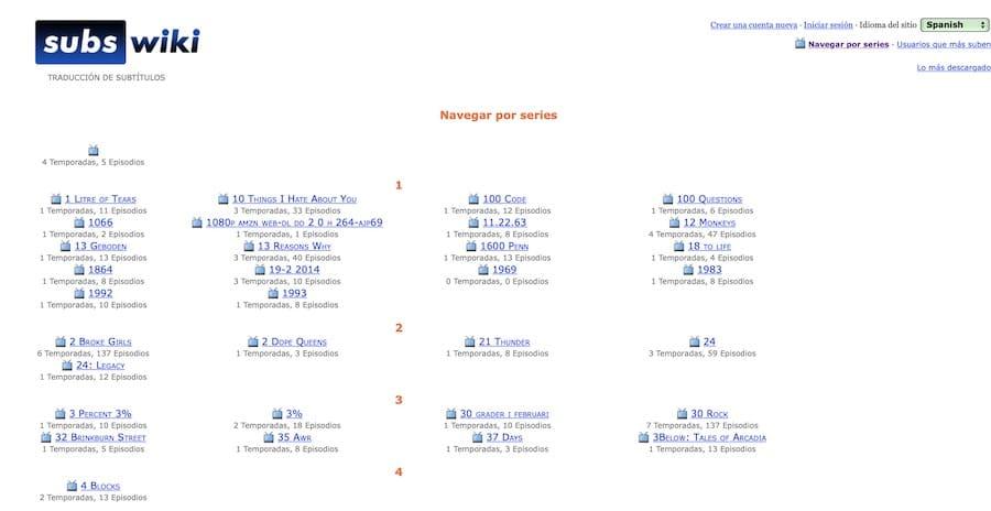 paginas subtitulos espanol 2