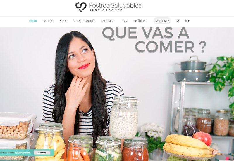 Web de Postres saludables