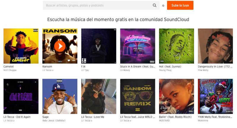 Soundcloud web