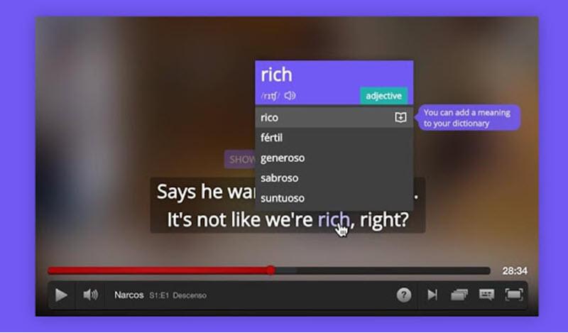 5 extensiones para aprender idiomas con Netflix 3
