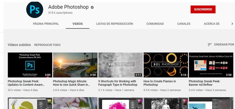 10 canales de YouTube para aprender Photoshop 2