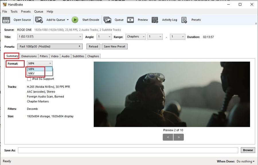 Como convertir tus videos a H.265 con HandBrake 2