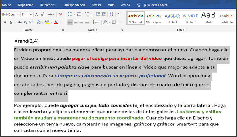 7 funciones de Word para trabajar con bloques de texto 4