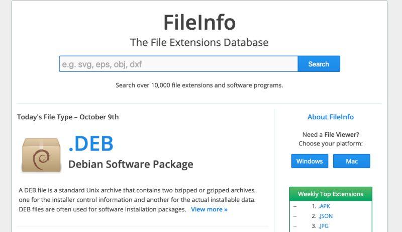 Fileinfo Extensiones