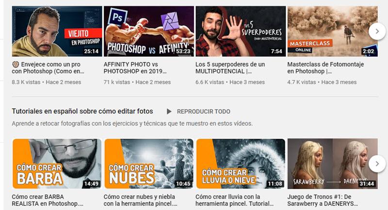 10 canales de YouTube para aprender Photoshop 4