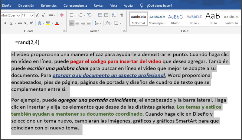 7 funciones de Word para trabajar con bloques de texto 3
