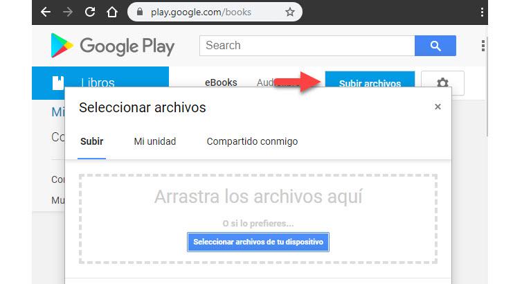 Cómo subir PDF y EPUB a Google Play Libros 4