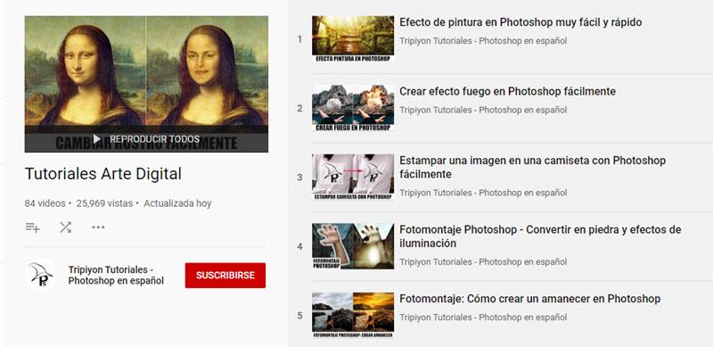 10 canales de YouTube para aprender Photoshop 6