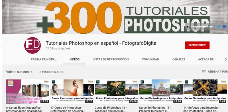 10 canales de YouTube para aprender Photoshop 3