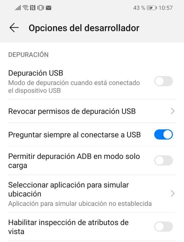 Depuracion USB