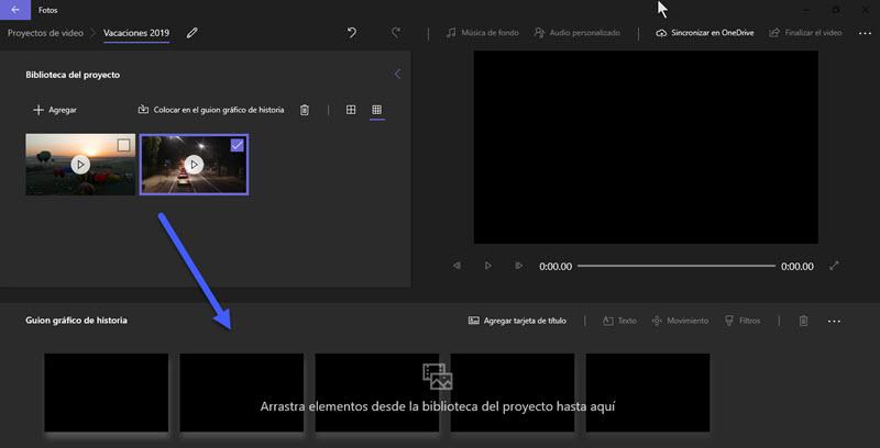 Cómo unir varios vídeos en uno en Windows 10 3