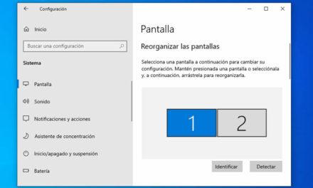 Cómo trabajar con múltiples pantallas en Windows 10
