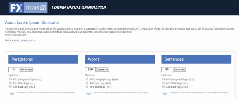 5 generadores de texto al estilo Lorem Ipsum 4