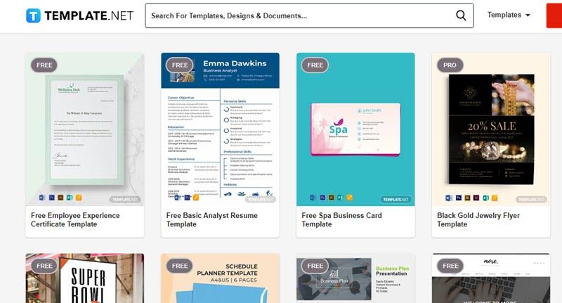 5 plataformas web para descargar plantillas de Word 3