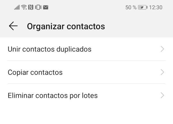 Unir contactos duplicados