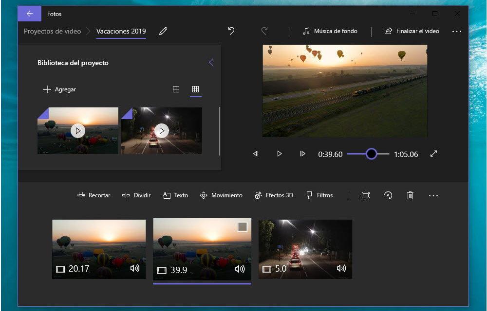 Cómo unir varios vídeos en uno en Windows 10