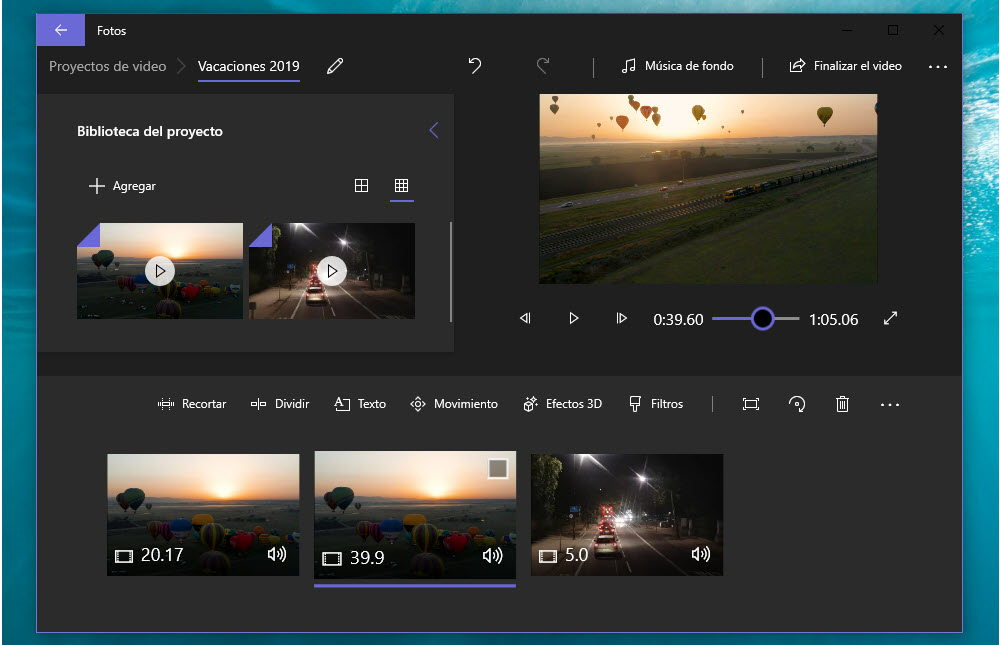 Cómo unir varios vídeos en uno en Windows 10 1