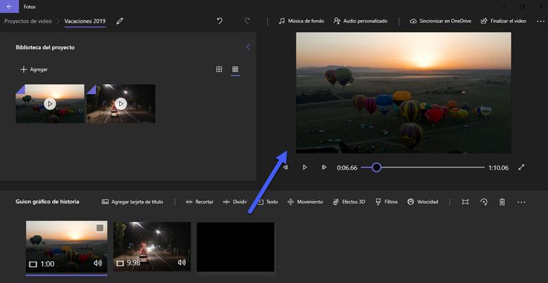 Cómo unir varios vídeos en uno en Windows 10 4