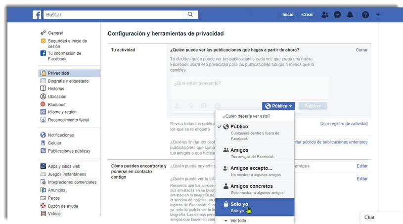 Cómo ocultar tu perfil de Facebook, Instagram y Twitter 2