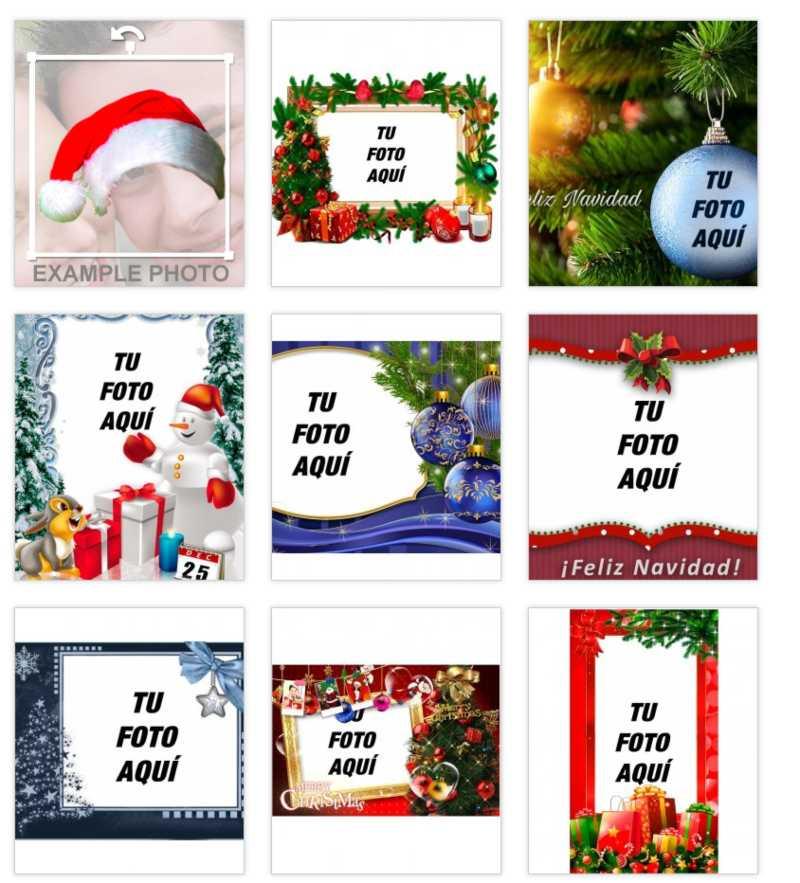 Fotos de navidad en Fotoefectos