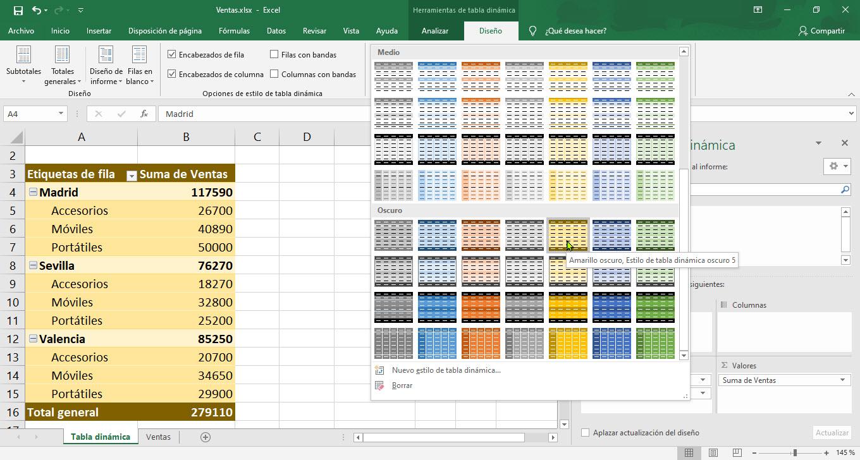 Cómo usar las tablas dinámicas de Excel 4