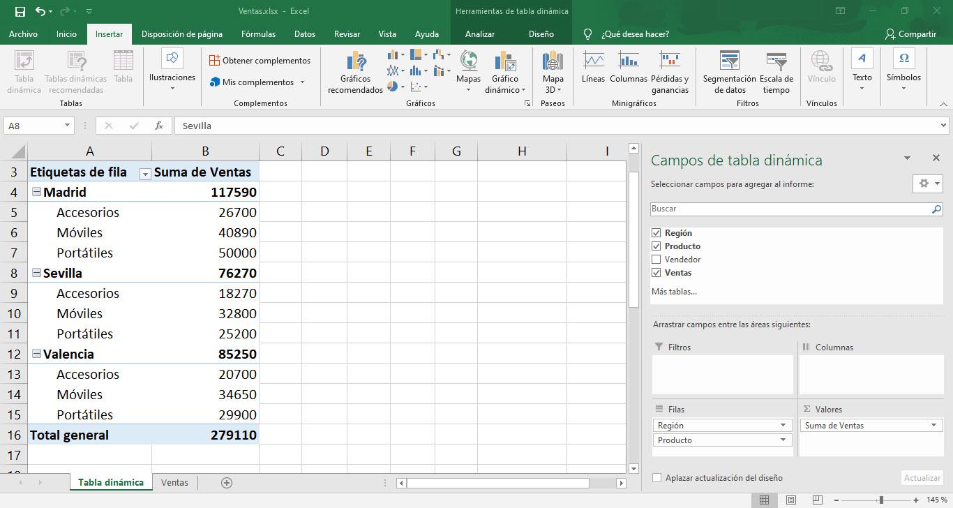 Cómo usar las tablas dinámicas de Excel 3