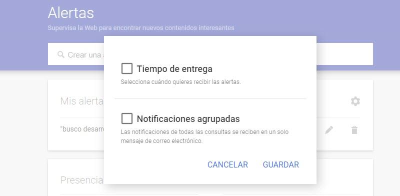 Cómo configurar alertas en Google para encontrar empleo 3