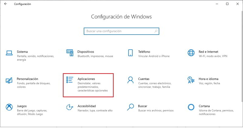 cambia navegador predeterminado windows 10 1