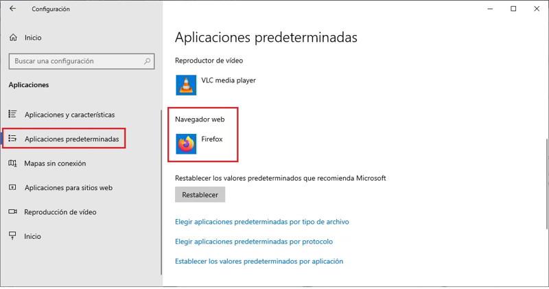 cambia navegador predeterminado windows 10 2