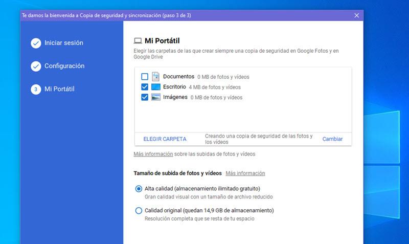 Cómo subir automáticamente las fotos del PC a Google Fotos 3