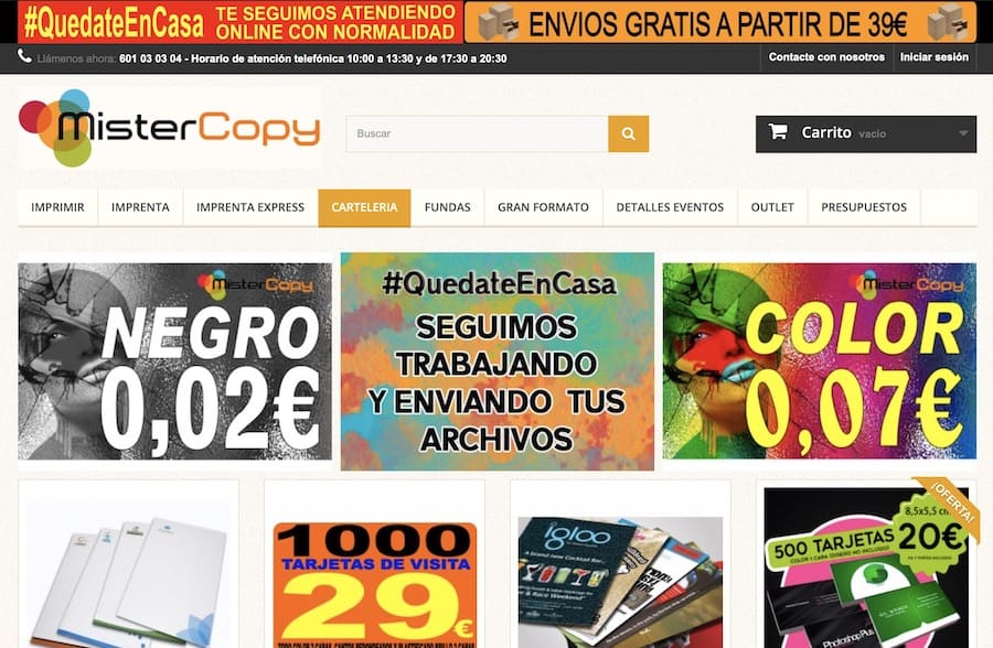 copisteria online envio express 2