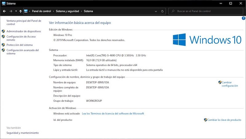 desactivar animaciones windows 10 2